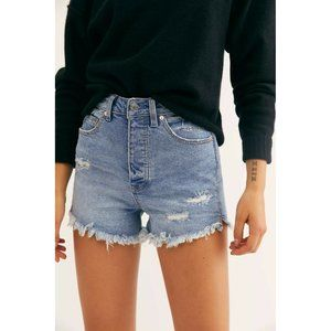 Free People CRVY Vintage High-Rise Jean Shorts